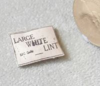 Packet of Large White Lint