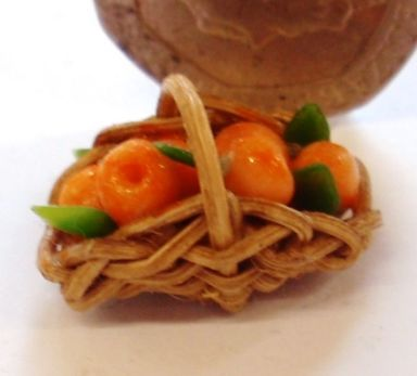 1:24th Scale Basket of Oranges