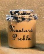 Stoneware Storage Jar - Mustard Pickle
