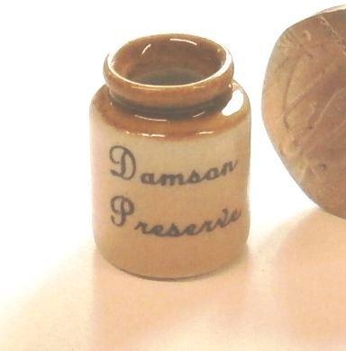 Stoneware Storage Jar - Damson Preserve