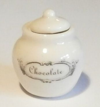Victorian White China Storage Jar - Small