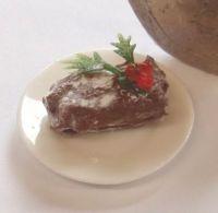 Yule Log on a Plate