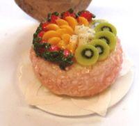 Madeira Sponge Decorated with Fresh Fruit