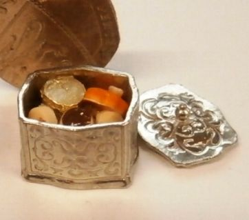 Silver Biscuit Box
