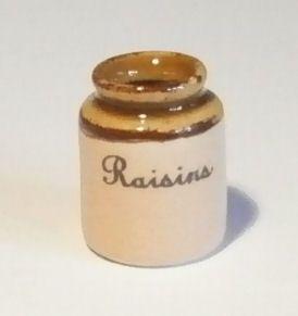Stoneware Storage Jar - Raisins